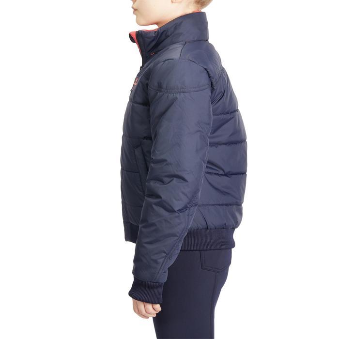 Warme jas voor paardrijden kinderen 500 marineblauw/roze