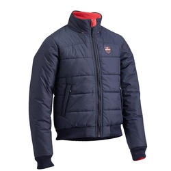 500 Warm Children's Horseback Riding Jacket - Navy/Pink