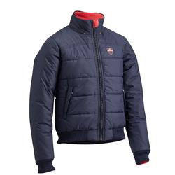 Winter-Reitblouson 500 Warm Kinder marineblau/rosa