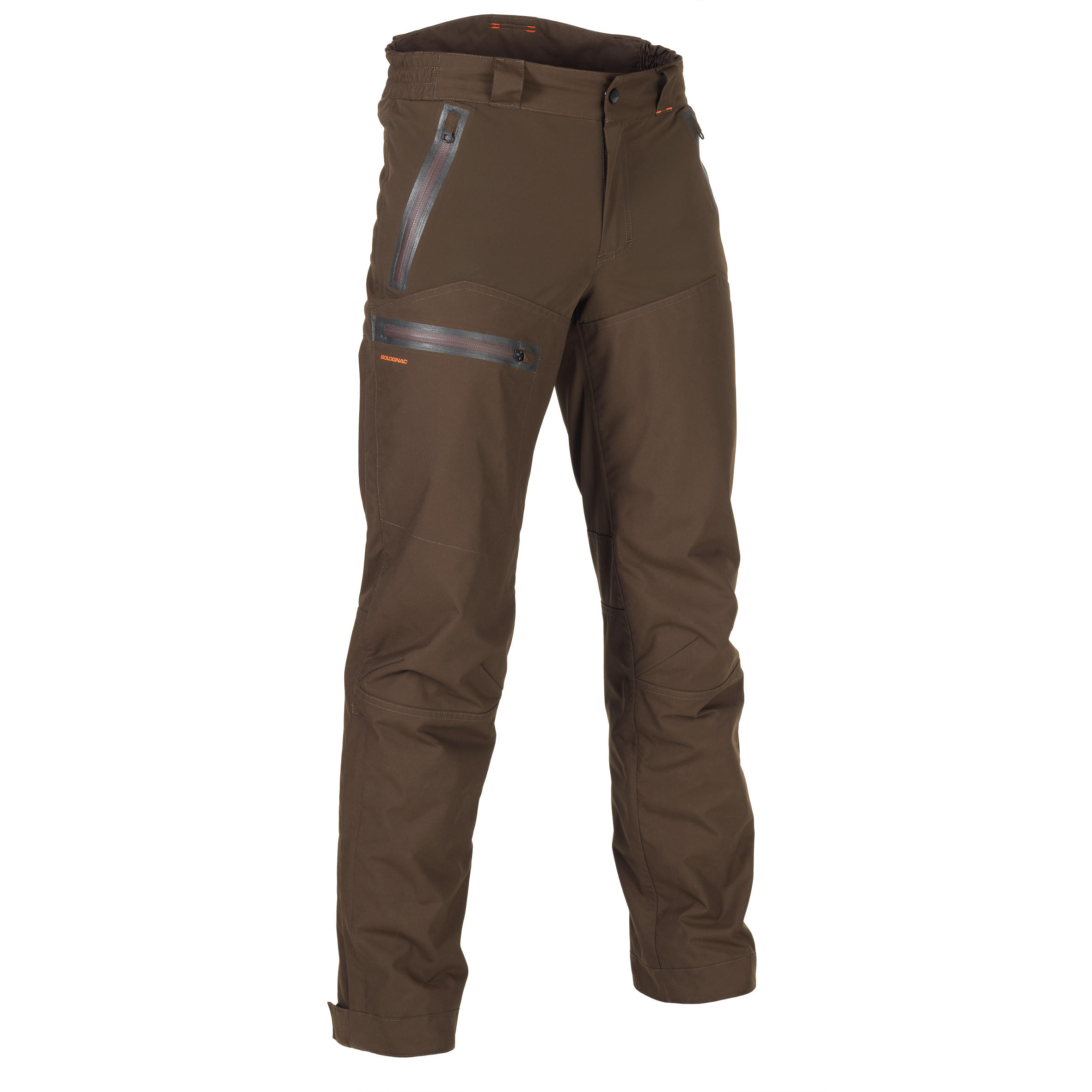 Jagd-Regenhose SGTR900WW verstärkt wasserdicht braun | Sportbekleidung > Sporthosen > Regenhosen | Solognac