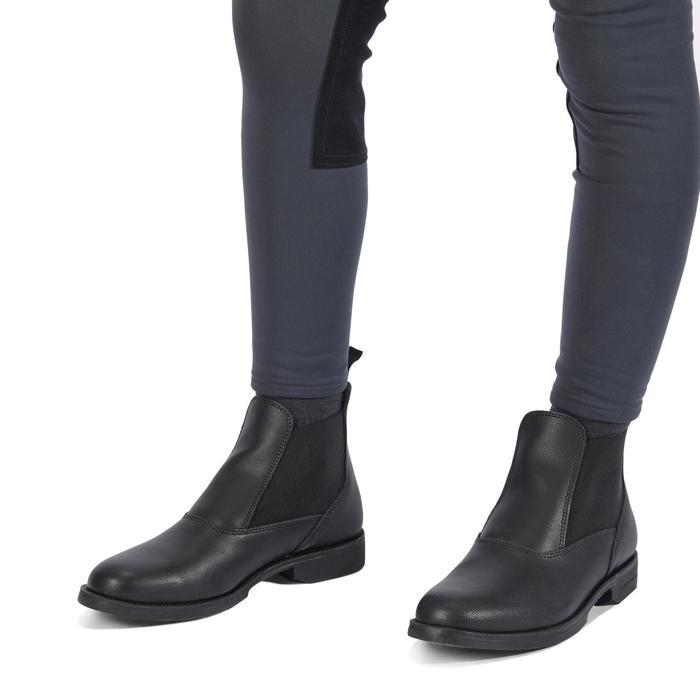 Pantalon chaud équitation enfant ACCESSY fond de peau gris foncé - 1345937