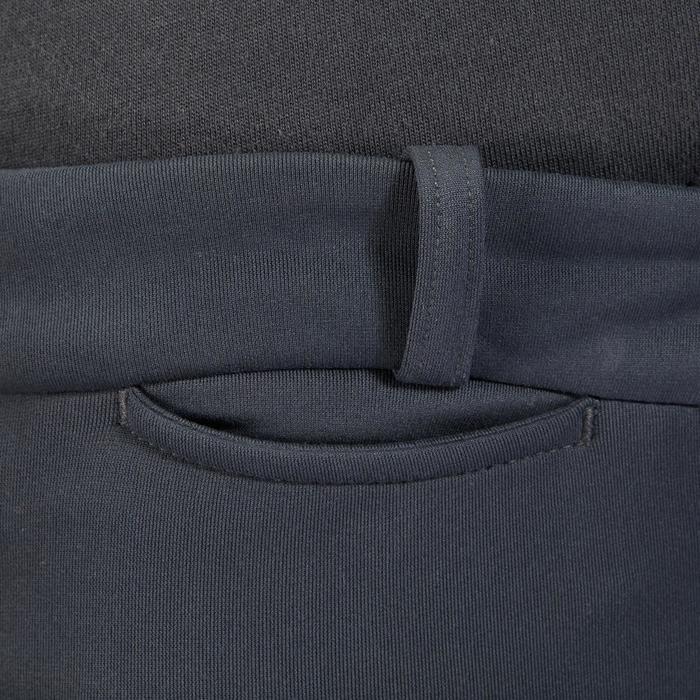 Pantalon chaud équitation enfant ACCESSY fond de peau gris foncé - 1345941