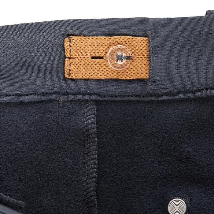 Pantalon chaud équitation enfant ACCESSY fond de peau gris foncé - 1345948