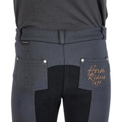 Pantalón cálido equitación niños ACCESSY badana Gris oscuro