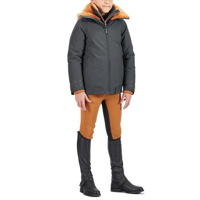 Winter-Reithose 180 Warm Fullseat Vollbesatz Kinder camel