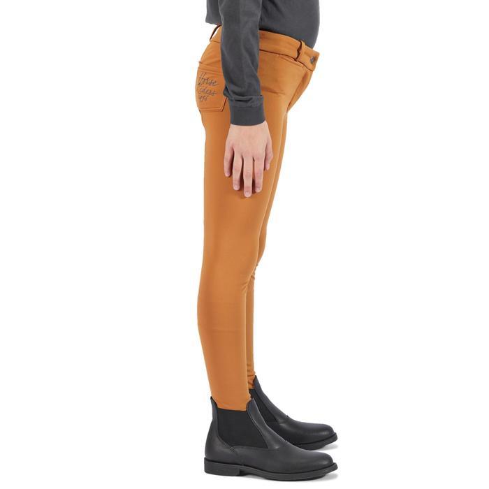 Pantalón cálido equitación niños ACCESSY badana camel