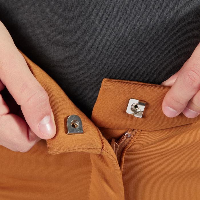 Pantalon chaud équitation enfant ACCESSY fond de peau camel