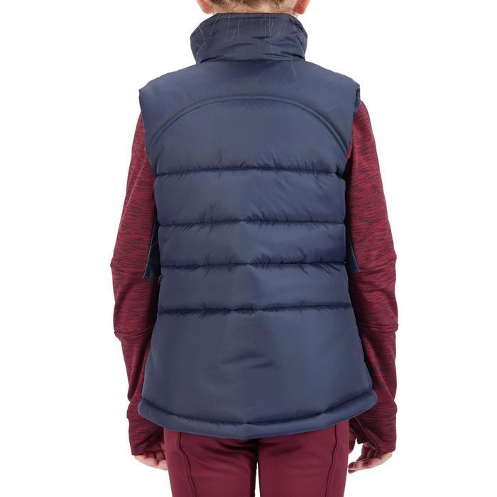 Winter-Reitweste 500 Warm Kinder marineblau/bordeaux