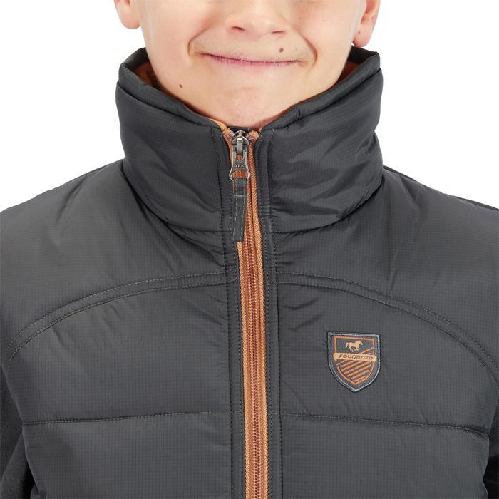 Winter-Reitweste 500 Warm Kinder grau/camel