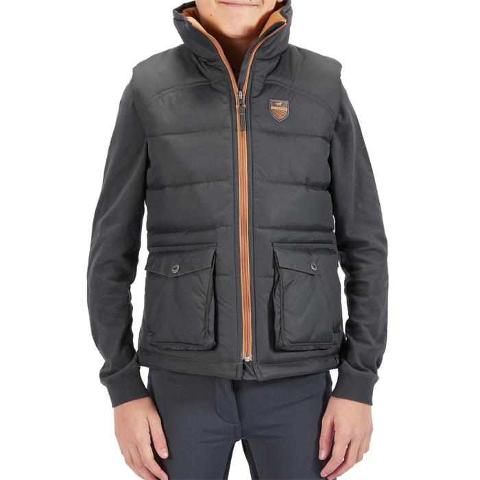 Thermo-Reitweste 500 Warm Kinder grau/camel