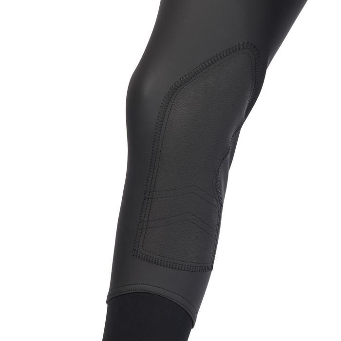 Pantalon chaud et imperméable équitation enfant KIPWARM noir