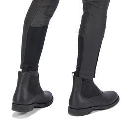Pantalón Equitación Fouganza 500 Kipwarm Junior Negro Cálido Impermeable