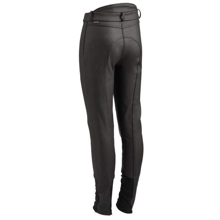 Pantalón Equitación Fouganza 500 Kipwarm Niño Negro Cálido Impermeable