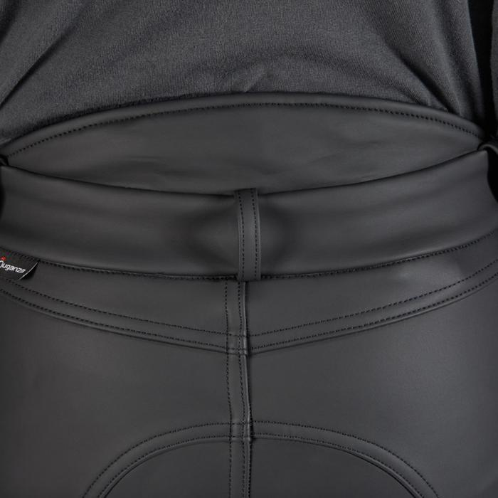 Pantalon chaud imperméable et respirant équitation enfant KIPWARM noir