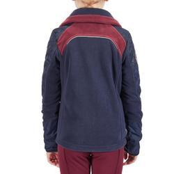 Reit-Fleecejacke 500 Warm Bi-Material Kinder marineblau/bordeaux