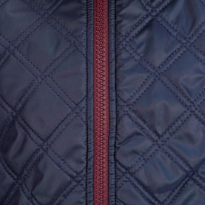 Forro polar de 2 materias equitación niño PADDOCK azul marino/burdeos