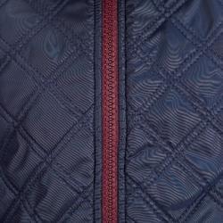 Reit-Fleecejacke Paddock Bi-Material Kinder marineblau/bordeaux