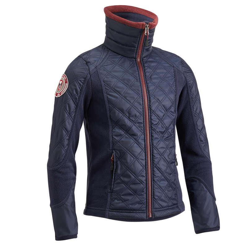 COLD WEATHER JR RIDINGWEAR Jezdectví - DĚTSKÁ MIKINA 500 NÁM. MODRÁ FOUGANZA - Oblečení pro jezdce