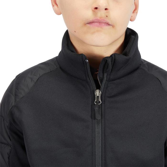 Kinderjas Safy voor ruitersport in twee materialen zwart
