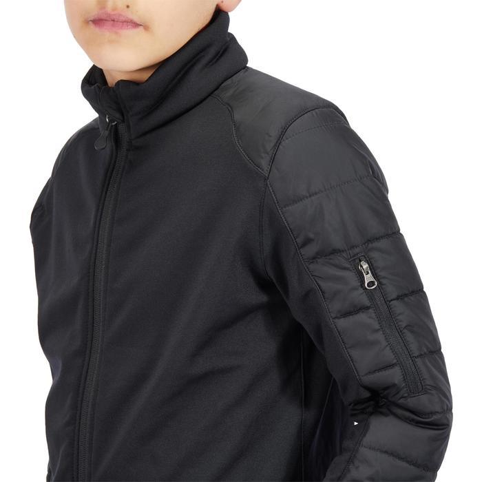 Kinderjas voor paardrijden Safy twee materialen zwart
