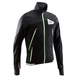 Kiprun Evolutiv 男性跑步夾克 -黑色/黃色