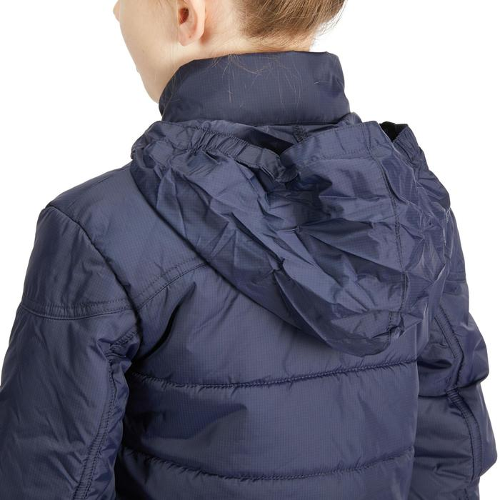 Winter-Reitblouson 500 wasserdicht Kinder marineblau/rosa