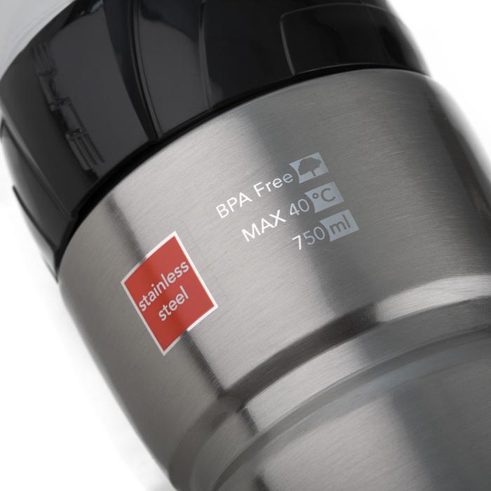 Fietsbidon Syssa roestvrij staal 750 ml - 1346444