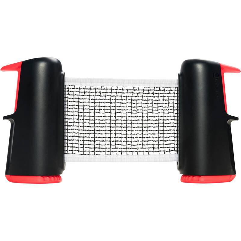 ROLLNET/MALÉ STOLKY RAKETOVÉ SPORTY - SÍŤ ROLLNET MALÁ ČERNO-RŮŽOVÁ PONGORI - Stolní tenis, ping pong
