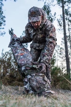 Hunting blind bag