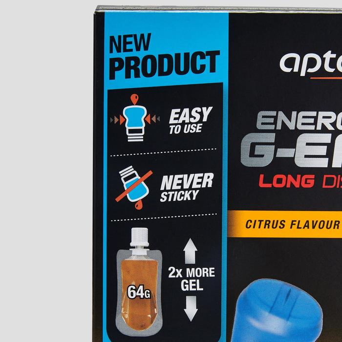 Gel Energético Triatlón Aptonia G-Easy Larga Distancia Cítrico 2 X 64 G