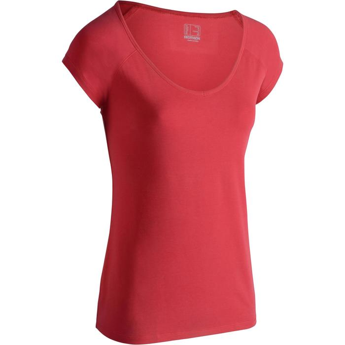 T-Shirt 500 Slim Gym Damen pink