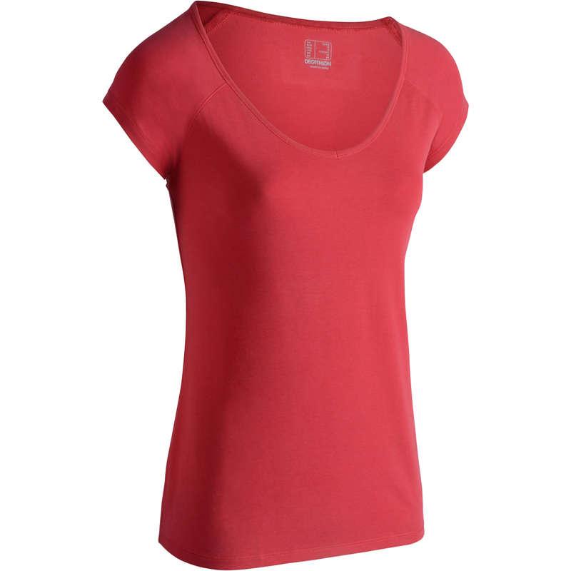T-SHIRT, LEGGINGS, SHORT DONNA Ginnastica, Pilates - T-shirt donna slim gym 500 NYAMBA - Sport