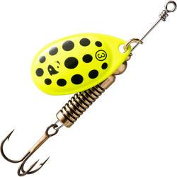 Spinner voor roofvissen Weta + #3 geel zwarte stippen