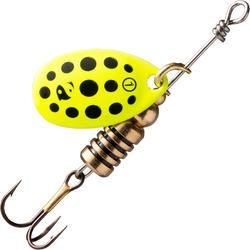 Spinner voor roofvissen Weta + #1 geel zwarte stippen