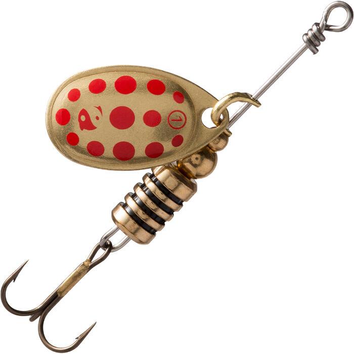 Spinner Weta+ Gr. 1 gold/rot gepunktet zum Angeln auf Raubfische