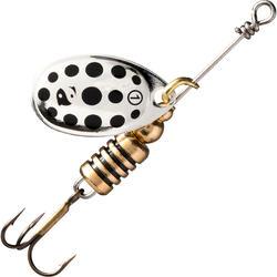Spinner voor roofvissen Weta + #1 zilver zwarte stippen