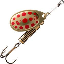 Spinner voor roofvissen Weta + #3 goud rode stippen