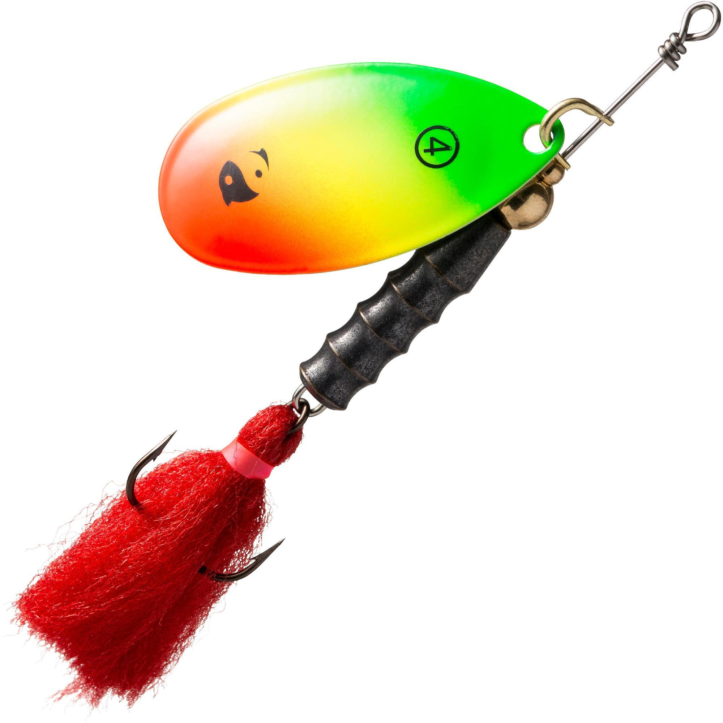 Caperlan Spinner voor roofvissen Weta Puff #4 rasta