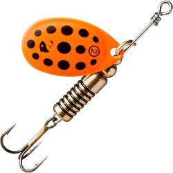 Spinner voor roofvissen Weta + #2 oranje zwarte stippen