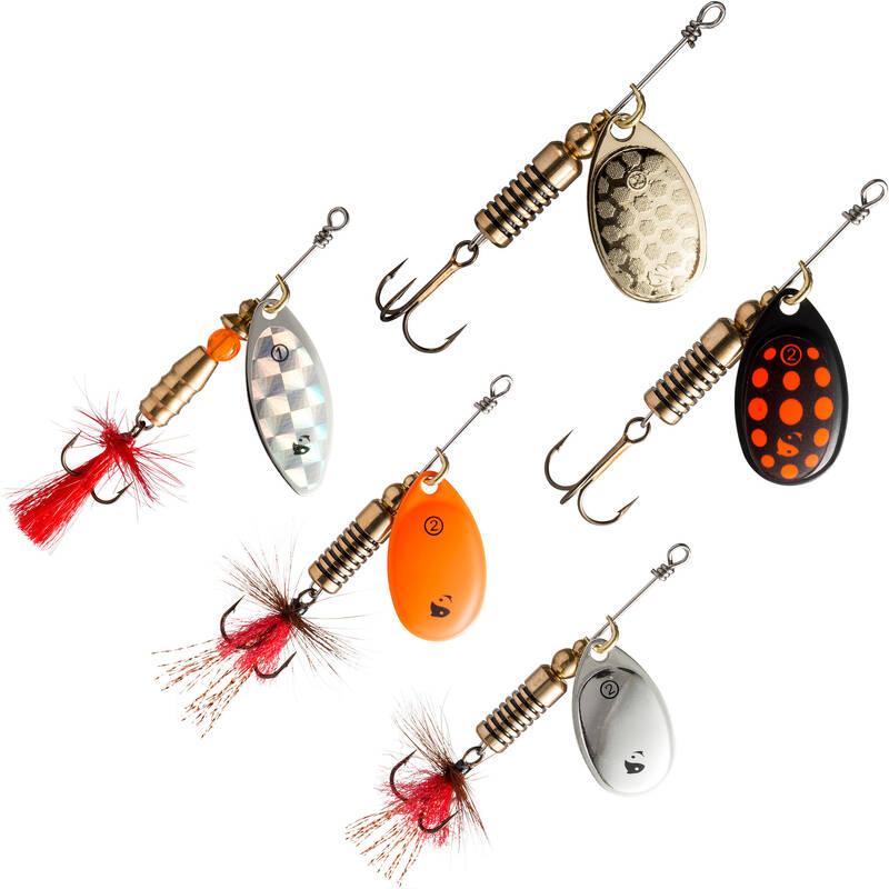 KOVOVÉ NÁSTRAHY Č. 2 3 4 5 Rybolov - SADA TŘPYTEK KOVIK NEW CAPERLAN - Návnady a nástrahy na ryby