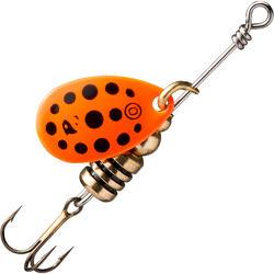 Spinner rotierend Weta + #0 orange/schwarze Punkte Raubfischangeln