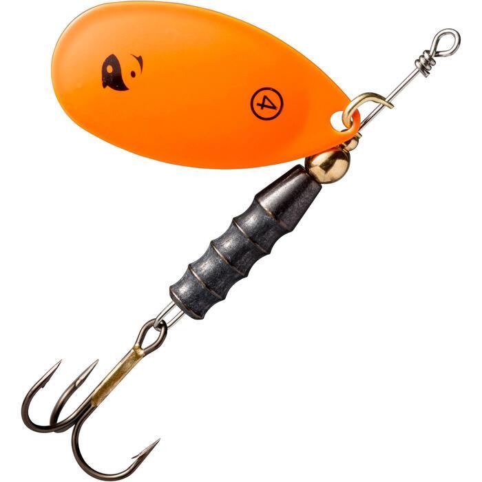 Spinner voor roofvissen Weta + #4 fluo-oranje