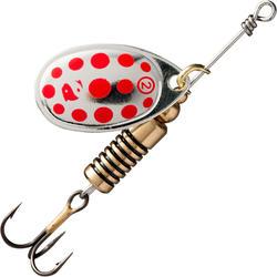 Spinners voor roofvissen Weta + #2 zilver rode stippen