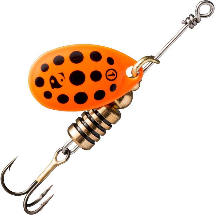 Spinner Weta + #1 orange/schwarze Punkte Raubfischangeln