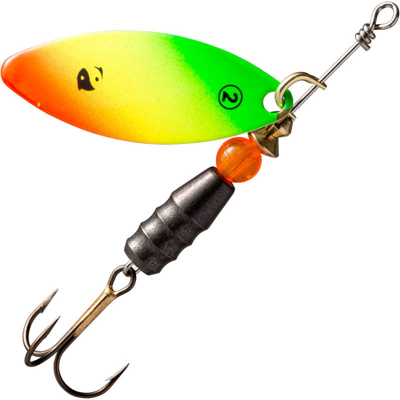 METAL LURES OVER 5CM Fishing - SPINNER TARO #2 RASTA CAPERLAN - Pike and Predator Fishing