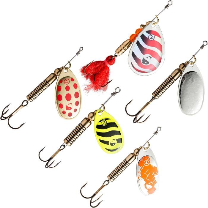 KIT CUILLERS TOURNANTES PÊCHE DES CARNASSIERS KAURI NEW - 1346783