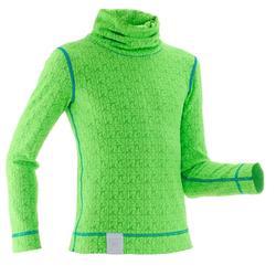 Camiseta Interior Térmica de Esquí Wed'ze 2Warm Niños Verde