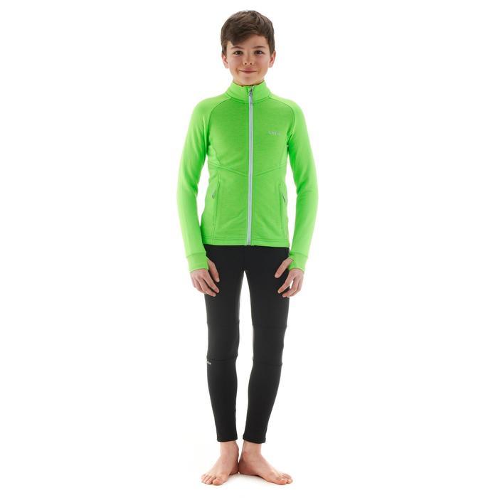 Chaqueta térmica de esquí niño MID WARM 500 verde