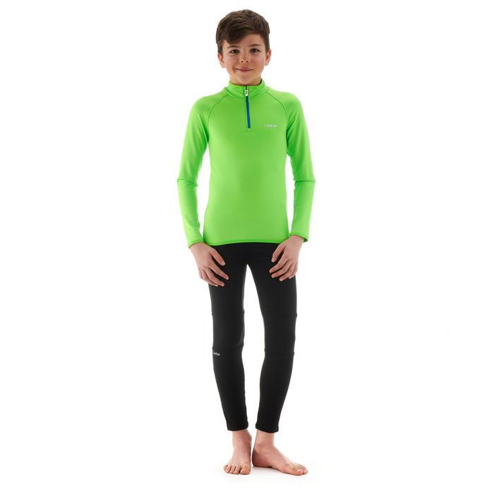 Sous-vêtement haut de ski enfant Freshwarm 1/2 ZIP Vert