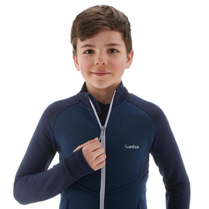 Chaqueta térmica de esquí júnior MID WARM 500 Azul